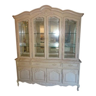 Vintage Stanley Furniture China Cabinet For Sale