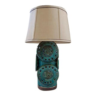 Soholm Green and Brown Mid-Century Industrial Table Lamp For Sale