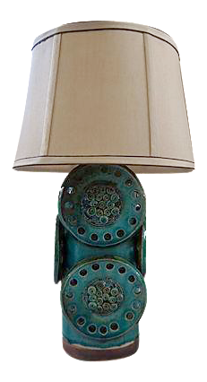 Soholm Green And Brown Mid Century Industrial Table Lamp