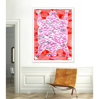 "XL ""Tiger Rug"" Print by Kate Roebuck, 48"" X 63"" Preview"
