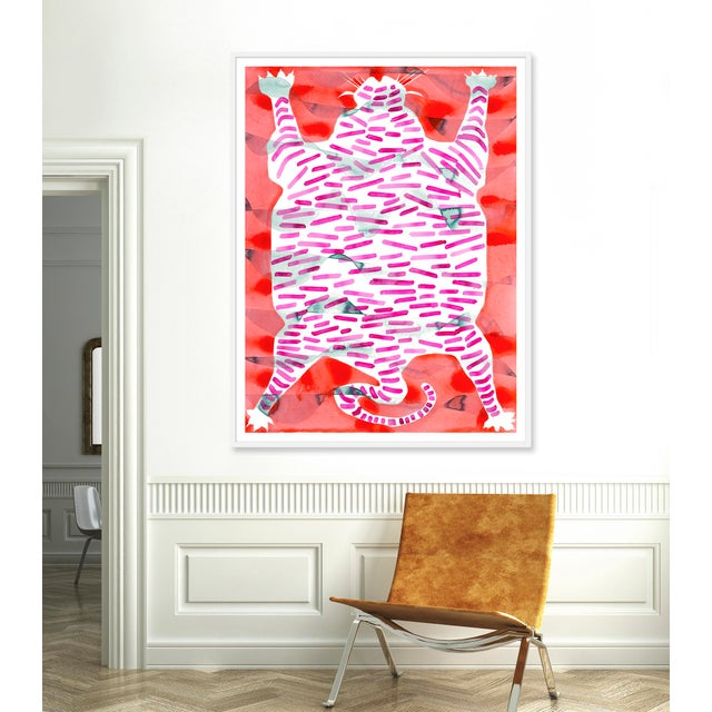 Giclée on textured fine art paper with white frame. Unframed print dimensions: 43.75x59.75. Largely influenced by her...