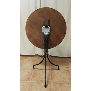 New Round Folding Bistro Table With Wood Top & Iron Base Preview