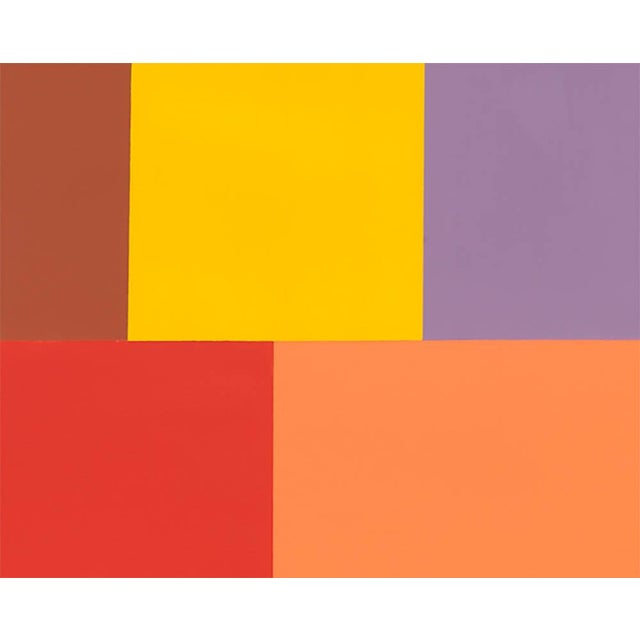 """Abstract Tom McGlynn """"Test Pattern 7 (Siena)"""", Painting For Sale - Image 3 of 4"""