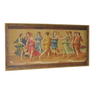 """The Wedding of Cupid and Psyche"" Victorian Greek Classical Oil Painting c.1900 For Sale"