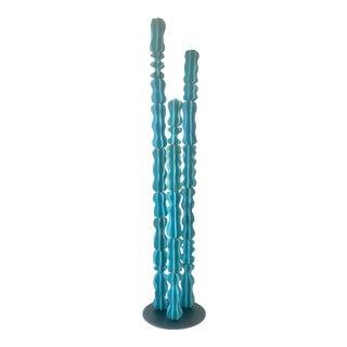 Turquoise Monstrosus Ceramic Sculpture For Sale