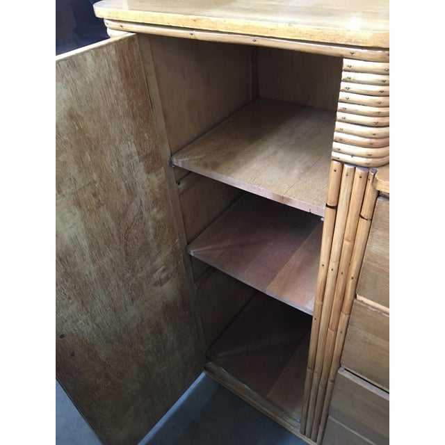 Rare Vintage Stacked Rattan Armoire - Image 7 of 8