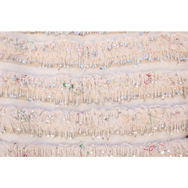 Vintage Handira Moroccan Wedding Blanket - Image 2 of 2