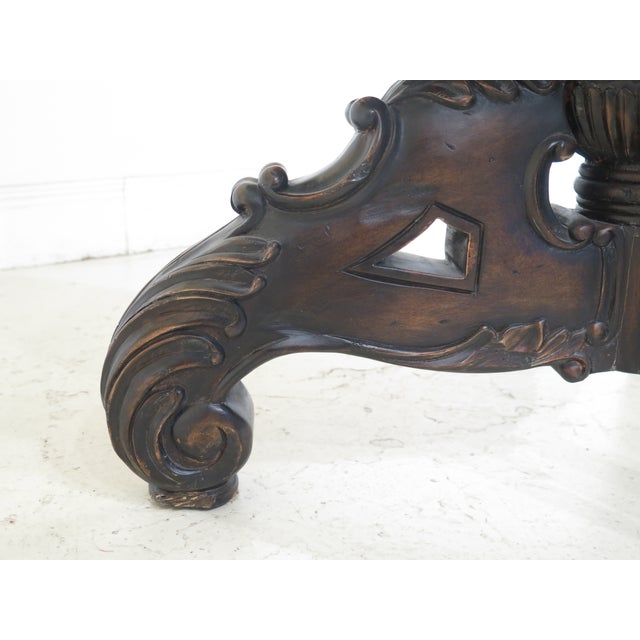 Wood Maitland Smith Carved Mahogany Revolving Bookcase For Sale - Image 7 of 10