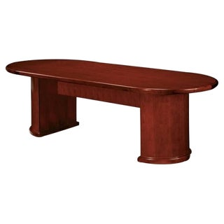 Contemporary Brown Oval Racetrack Shape Conference Table For Sale