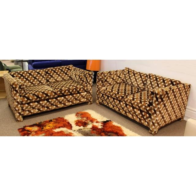 Mid Century Modern Milo Baughman Foremost Pair of Loveseats 1970s Larsen Style For Sale - Image 12 of 12