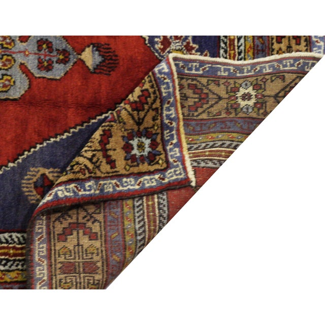 Vintage Turkish Oushak Rug - 4'10'' x 9'11'' For Sale - Image 4 of 4