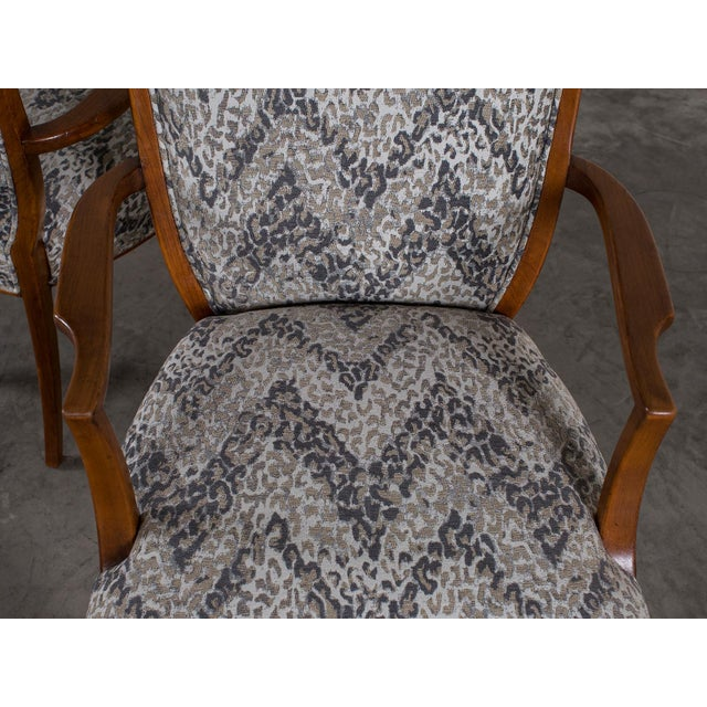 1940s Vintage French Art Deco Beechwood Chairs - a Pair For Sale - Image 11 of 11