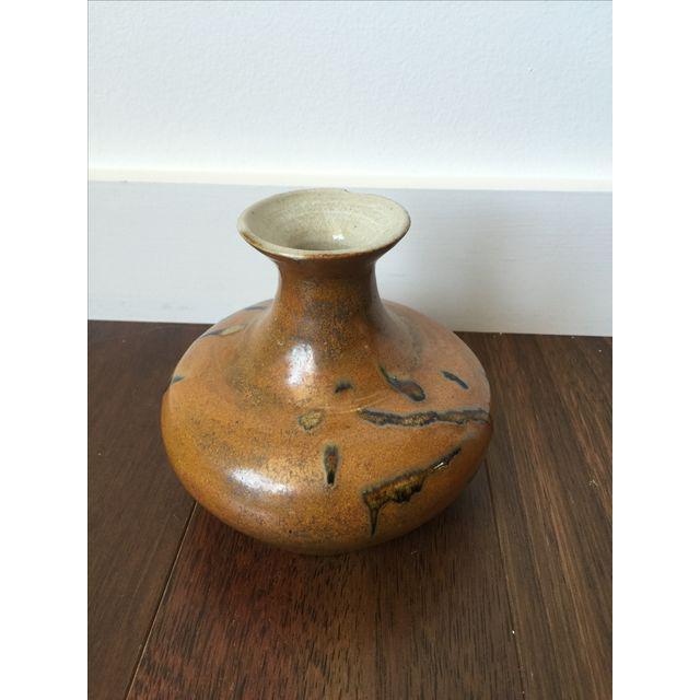 Tree Design Handmade Tan Clay Vase - Image 5 of 7