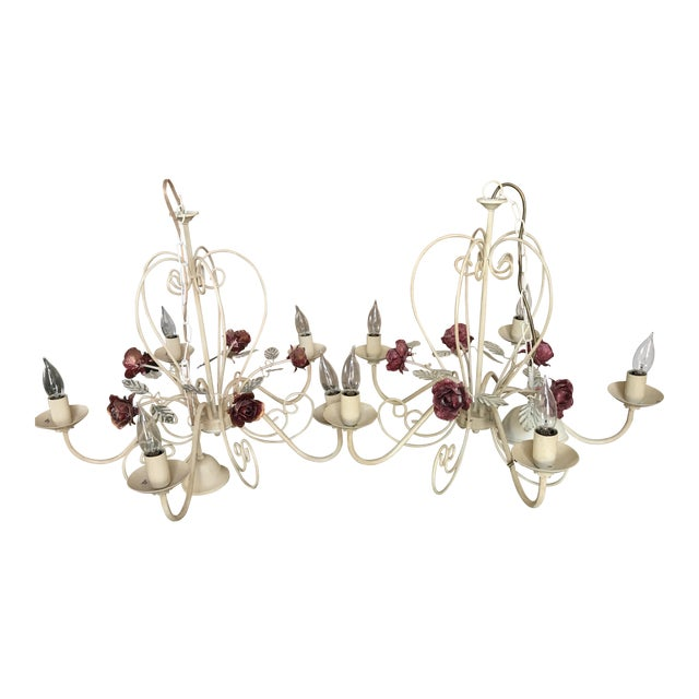 Antique European Rose Chandelier - A Pair - Image 1 of 4