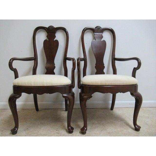 Ethan Allen Georgian Court Queen Anne Dining Room Arm Chairs