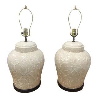 Pair of Vintage Chapman Ceramic Lamps For Sale