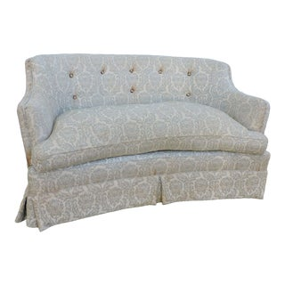 Mid Century Modern Tufted Love Seat Settee For Sale