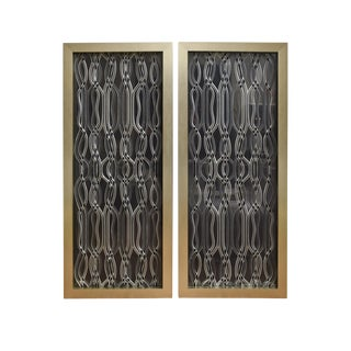 Vintage Custom Framed Lucite Dimensional Sculptural Wall Panels - a Pair For Sale