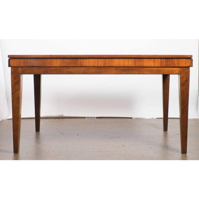 French Art Deco Burled Elm Table - Image 5 of 9