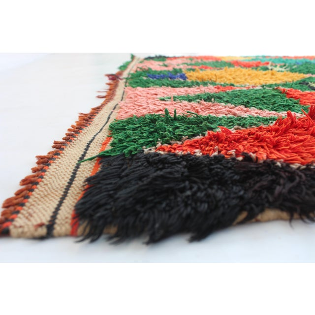 "Vintage Azilal Moroccan Berber Rug - 3'5"" X 6'11"" - Image 2 of 2"