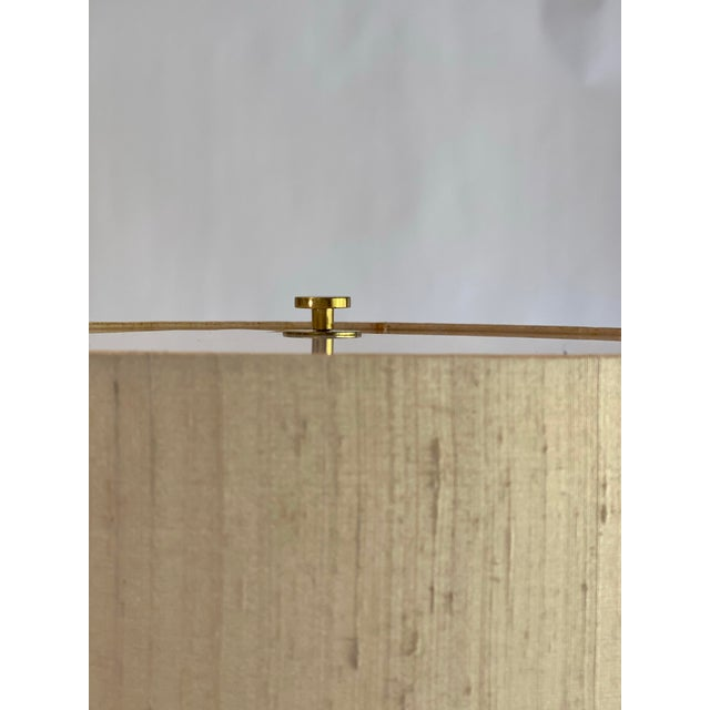 Bergboms Bergboms Model G-025 Brass Floor Lamp With Silk Shade For Sale - Image 4 of 12