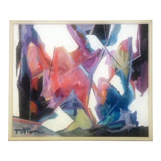 1970's Abstract Expressionist Painting For Sale