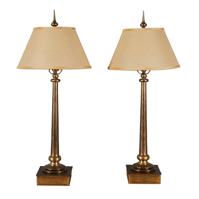 Pair of Chapman Brass Table Lamps For Sale In Los Angeles - Image 6 of 6