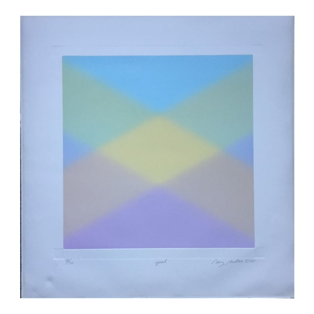 Barry Nelson 1978 Op-Art Etching Abstract - Image 1 of 9