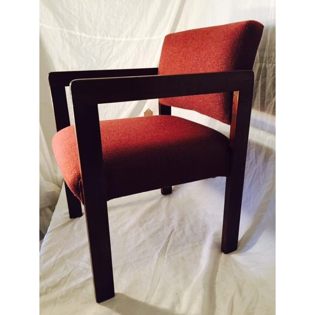 1970's Style Wood and Upholstered Chair - Image 4 of 6