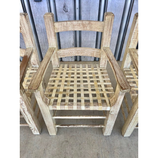 Kreiss Coastal Hand Carved Chairs by Kreiss For Sale - Image 4 of 7
