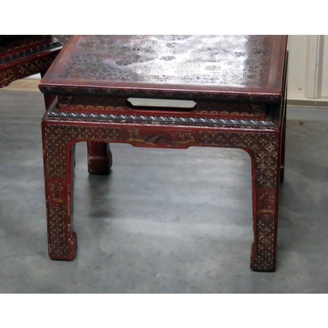 Asian 20th Century Asian John Widdicomb Side Tables - a Pair For Sale - Image 3 of 9