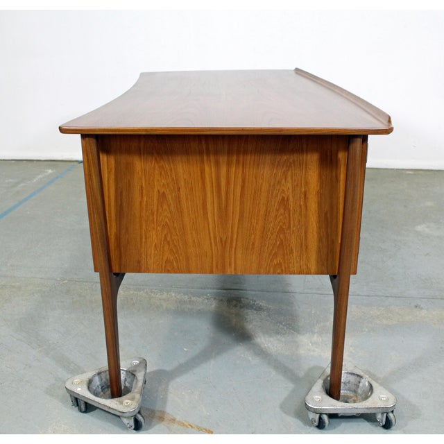 Mid 20th Century Mid-Century Danish Modern Svend Aage Madsen Teak Desk For Sale - Image 5 of 12