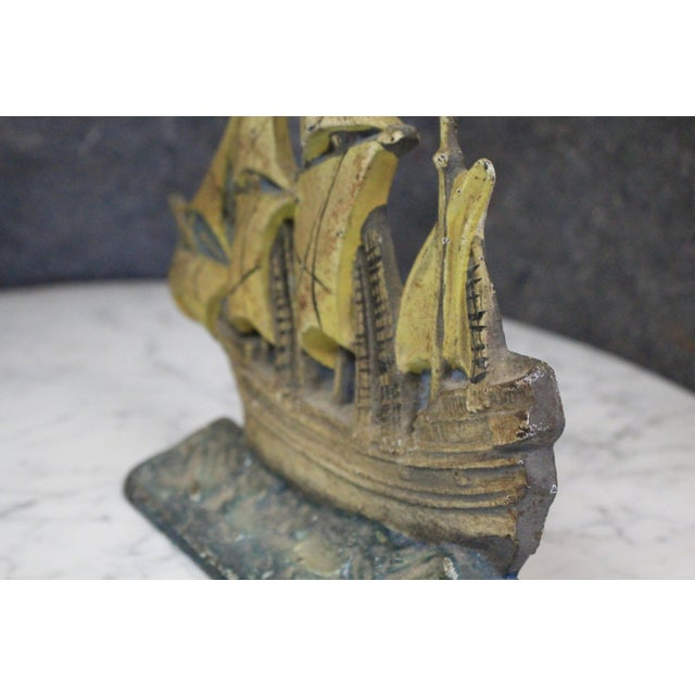 Late 20th Century Vintage Mayflower Doorstop For Sale - Image 4 of 5