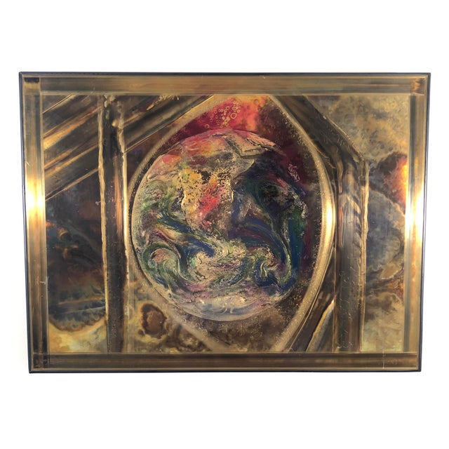 Brass Bernhard Rohne Etched Brass Wall Piece For Sale - Image 7 of 7