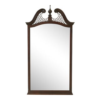 Drexel Heritage Chippendale Mahogany Beveled Glass Mirror For Sale