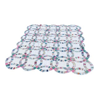 Double Wedding Ring Quilt For Sale