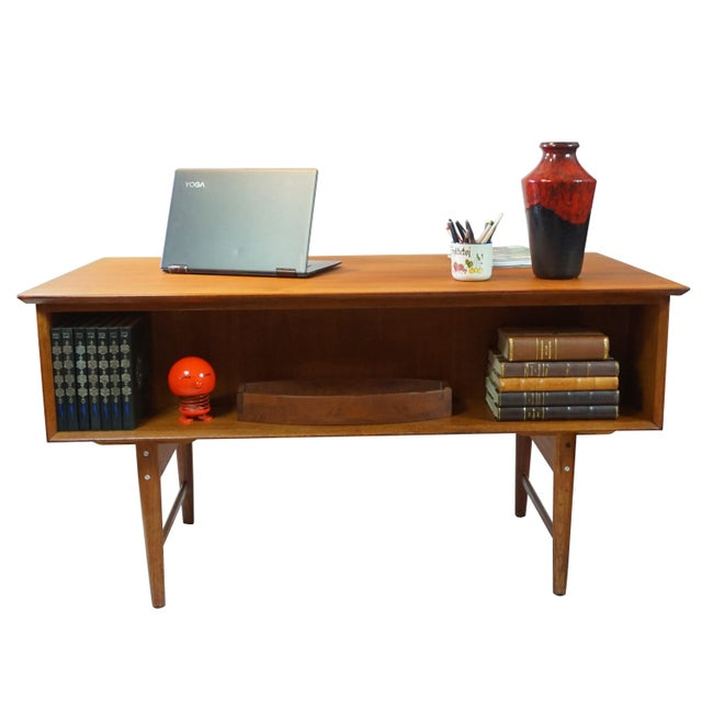 Danish Modern Dual Sided 5 Drawer Desk - Image 3 of 8