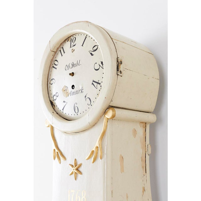 18th Century Swedish Gustavian Period Painted Mora Clock For Sale In San Francisco - Image 6 of 13