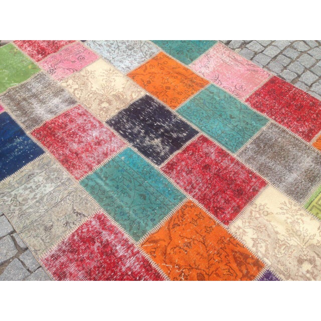 Anatolian Turkish Patchwork Rug - 5′9″ × 8′ For Sale - Image 4 of 6