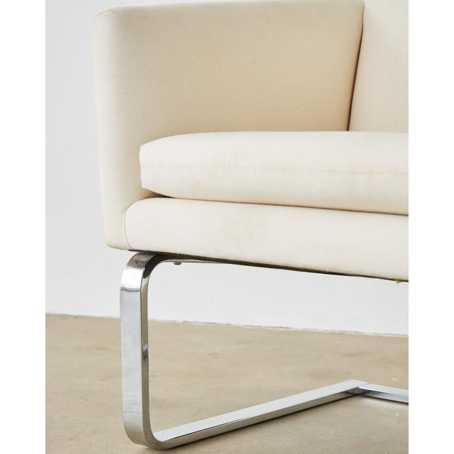 Selig Mid-Century Modern Cantilever Lounge Chairs - a Pair For Sale In San Francisco - Image 6 of 13