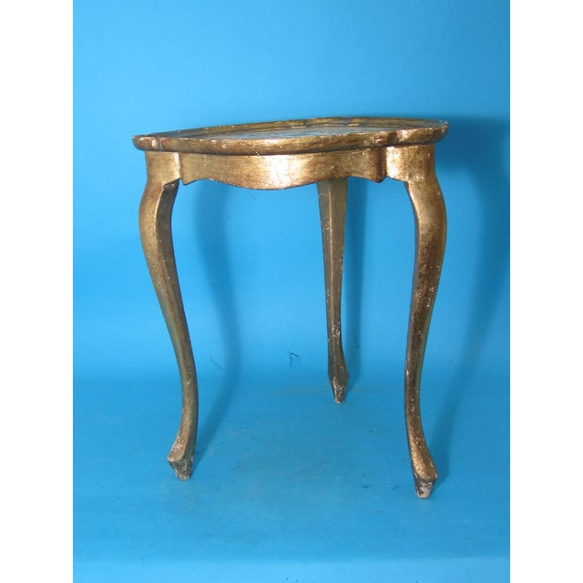 White & Gold Florentine Small Side Table - Image 3 of 6
