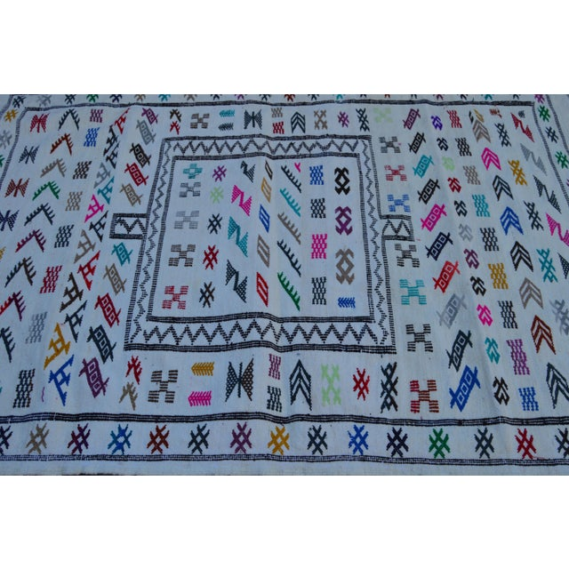 Moroccan Silk Rug - 4'8'' x 3'1'' For Sale - Image 4 of 4