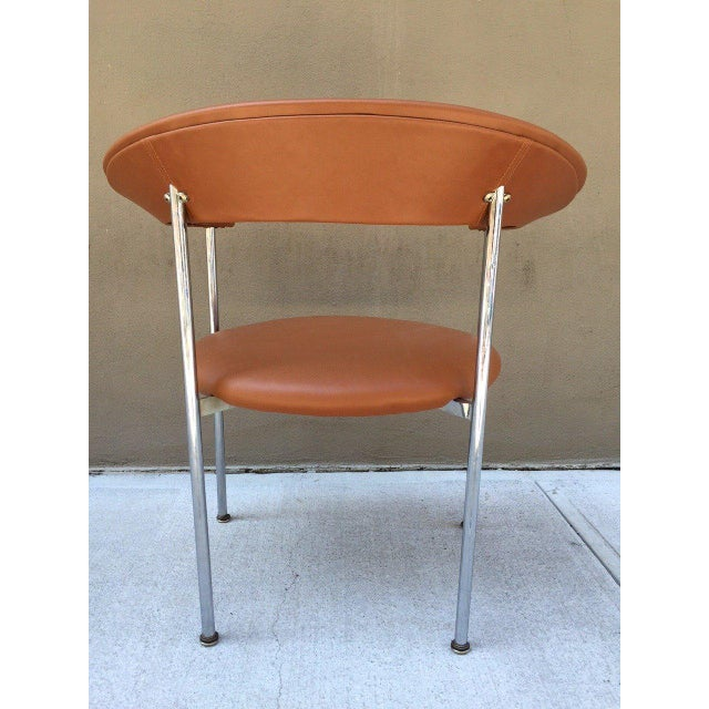 Mid-Century Modern Chrome Side Chair For Sale - Image 4 of 4