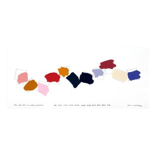 """Kyong Lee """"Writing in color 003"""", Painting For Sale"""