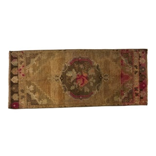 1960s Vintage Turkish Small Rug - 1′6″ × 3′9″ For Sale