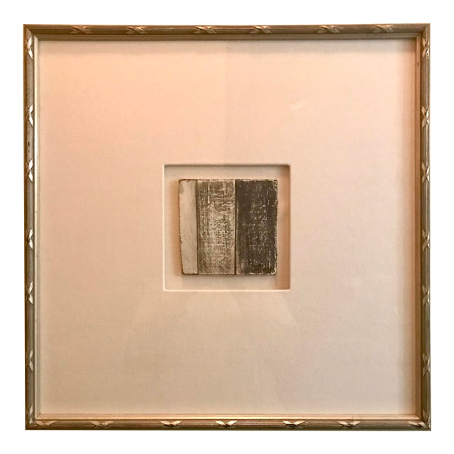 Small Matted Painting #1 With Silver Leaf Frame by Allen Kerr For Sale
