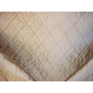 Traditional Kravet Couture Lattice Stitch Stearling Drapery Upholstery Fabric - 5-1/2y For Sale