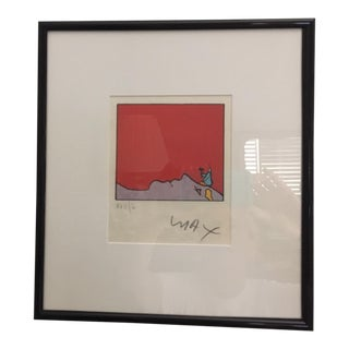 1970s Vintage Sunburst Edition Framed Print For Sale