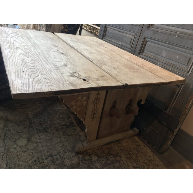 Antique Swiss Money Changing Table - Image 12 of 13