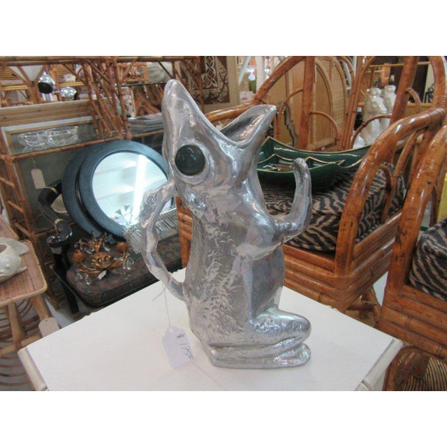 Aurther Court Aluminum Frog Pitcher - Image 2 of 6
